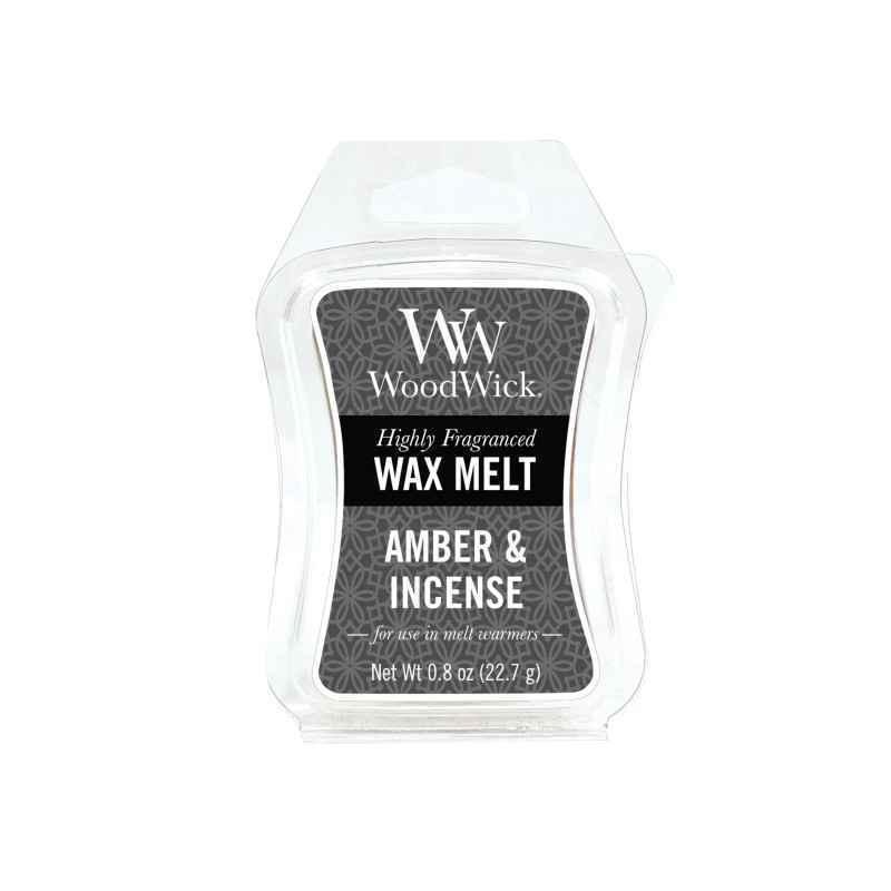 WoodWick Amber & Incense - wosk zapachowy - candlelove