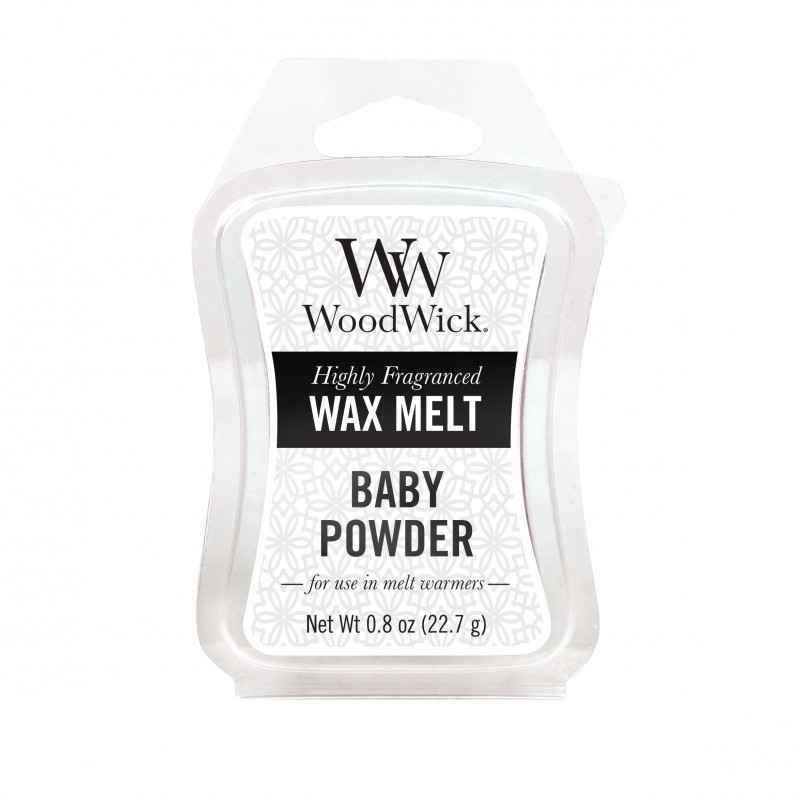 WoodWick Baby Powder - wosk zapachowy - candlelove