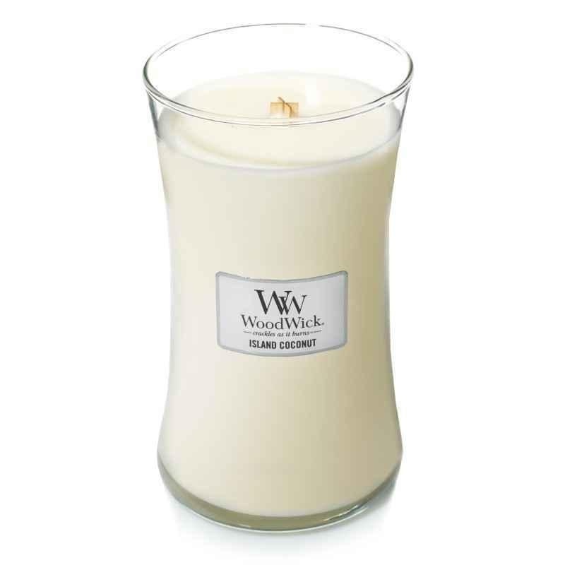 WoodWick Island Coconut - duża świeca zapachowa - candlelove
