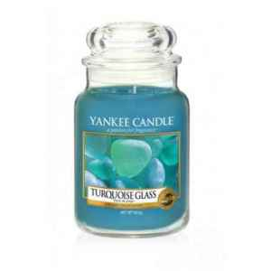 Yankee Candle Turquoise Glass - duża świeca zapachowa - e-candlelove