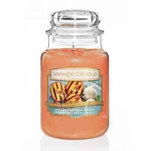 Yankee Candle Grilled Peaches & Vanilla - duża świeca zapachowa - candlelove