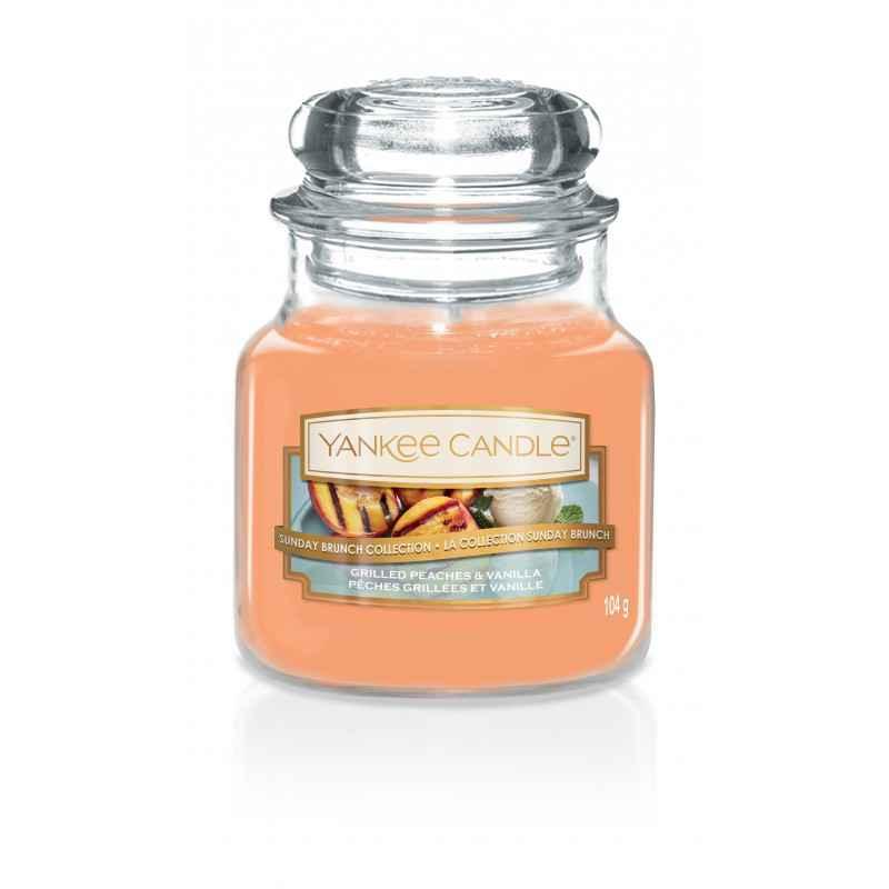 Yankee Candle Grilled Peaches & Vanilla - mała świeca zapachowa - candlelove