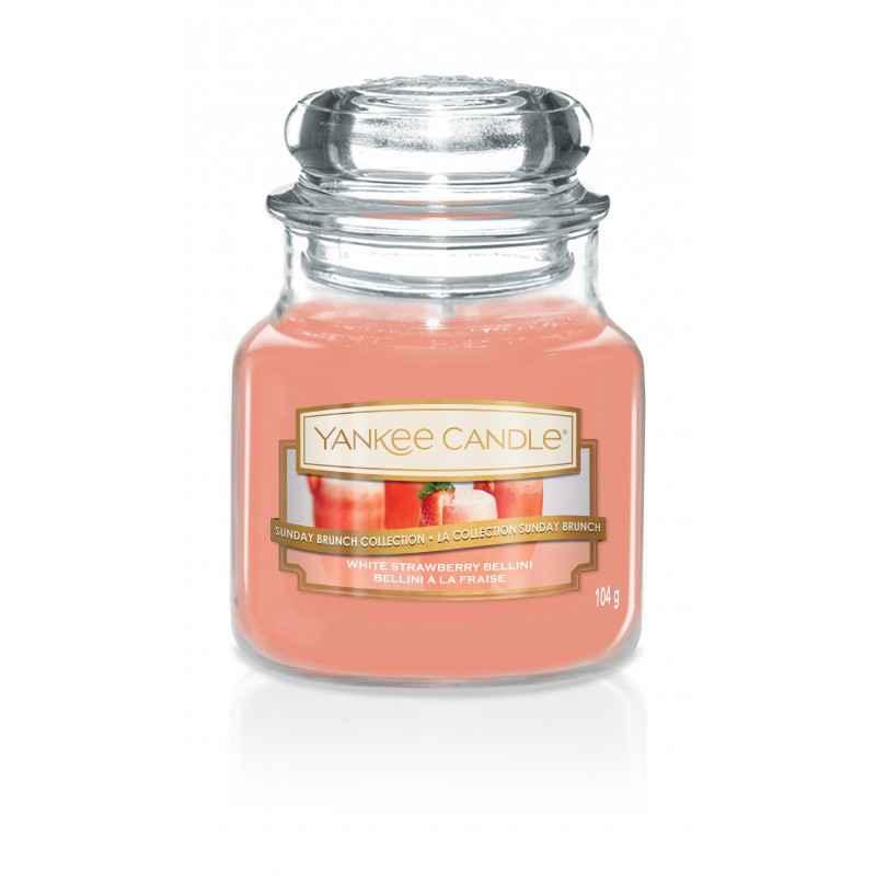 Yankee Candle White Strawberry Bellini - mała świeca zapachowa - candlelove