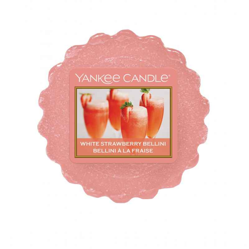 Yankee Candle White Strawberry Bellini - wosk zapachowy - e-candlelove