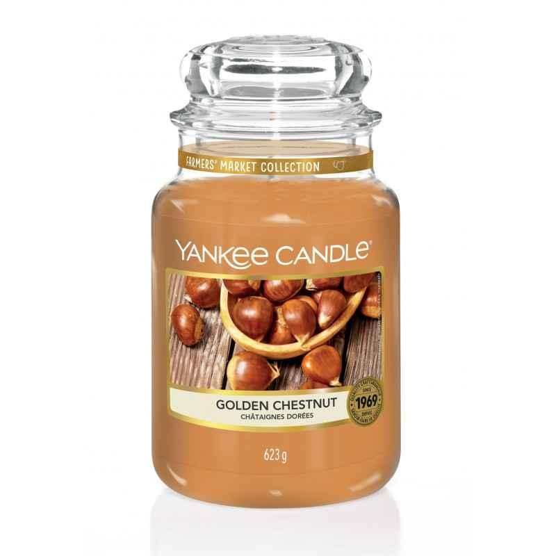 Yankee Candle Golden Chestnut - duża świeca zapachowa - e-candlelove