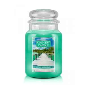 Country Candle Citrus & Seagrass - duża świeca zapachowa - e-candlelove
