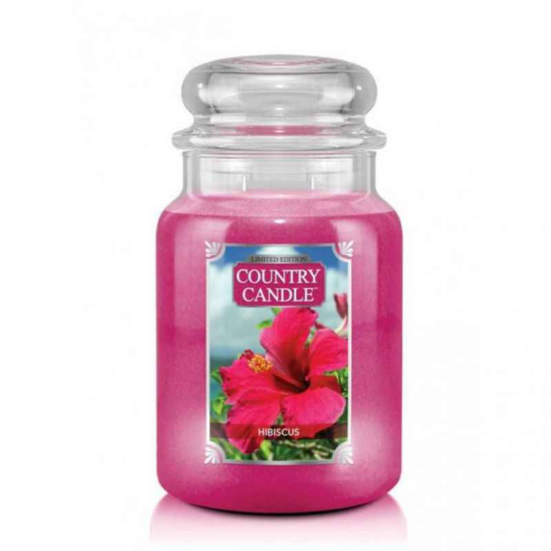 Country Candle Hibiscus - duża świeca zapachowa - e-candlelove
