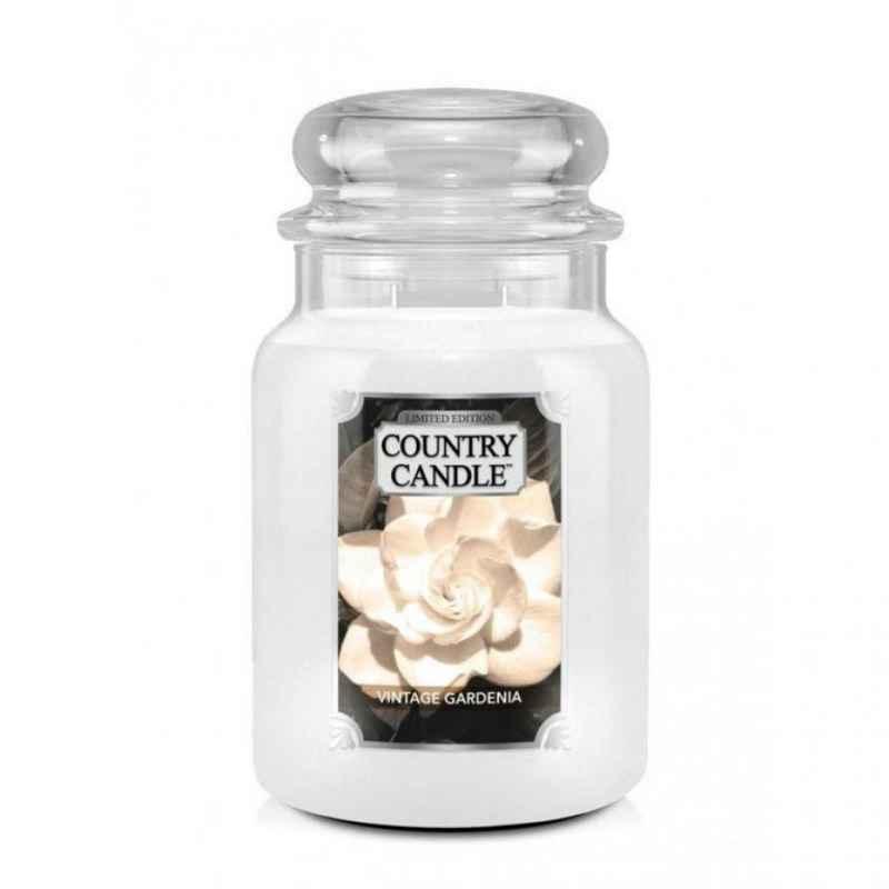 Country Candle Vintage Gardenia - duża świeca zapachowa - e-candlelowe