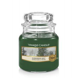 Yankee Candle Evergreen Mist - mała świeca zapachowa - candlelove