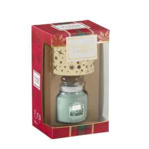 Yankee Candle Alpine Christmas - zestaw świeca mała z kloszem - e-candlelove