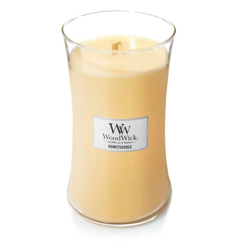 WoodWick Honeysuckle - duża świeca zapachowa - candlelove