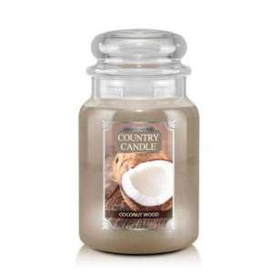 Country Candle Coconut Wood - duża świeca zapachowa - candlelove