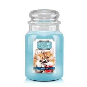 Country Candle Fresh Air Puppy - duża świeca zapachowa - candlelove