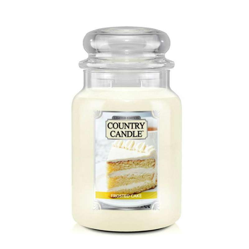Country Candle Frosted Cake - duża świeca zapachowa - candlelove