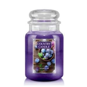 Country Candle Sugar Plum - duża świeca zapachowa - candlelove