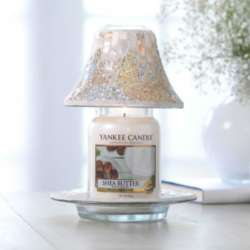 Yankee Candle Gold and Pearl Mosaic - zestaw duży klosz + talerz - candlelove