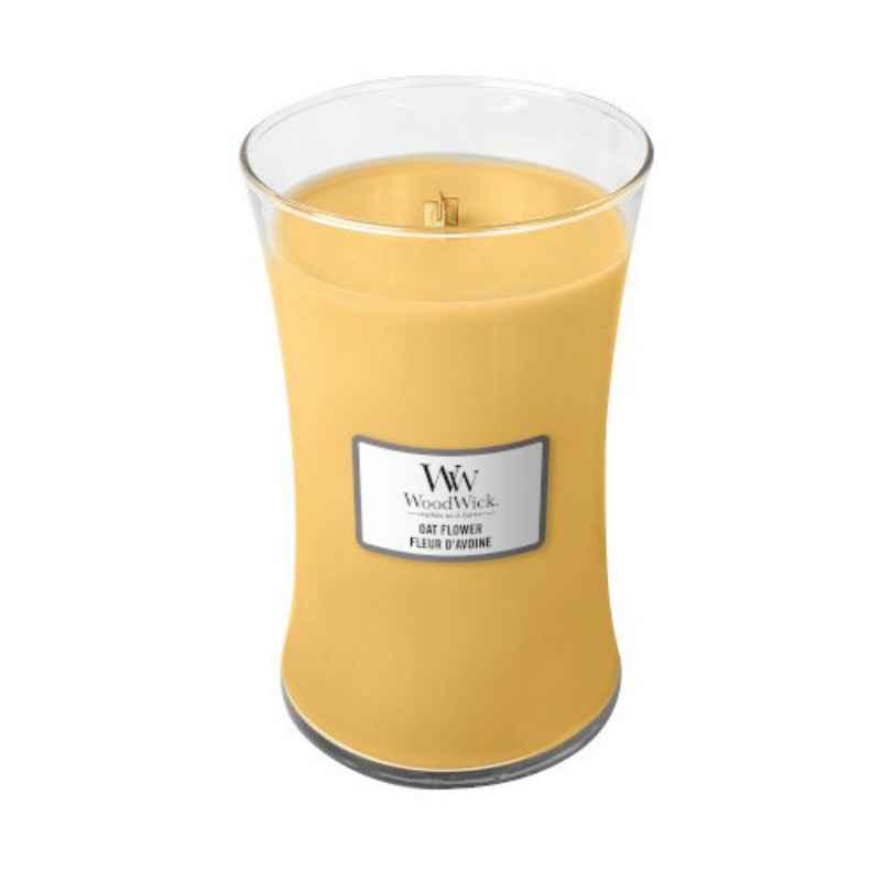WoodWick Oat Flower - duża świeca zapachowa - candlelove