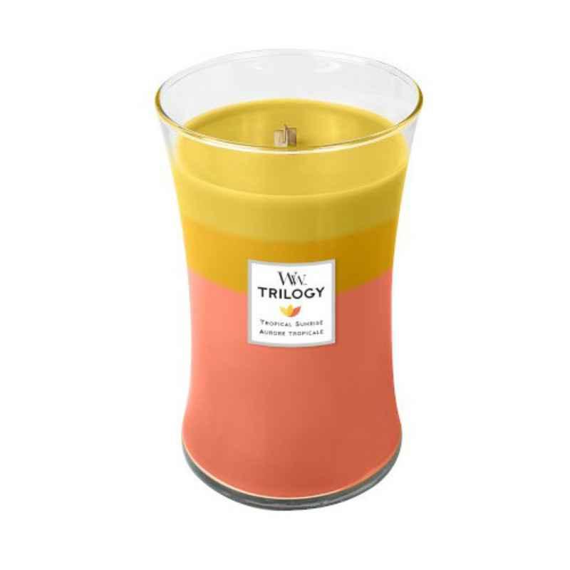 WoodWick Tropical Sunrise - duża świeca zapachowa - candlelove