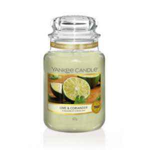 Yankee Candle Lime & Coriander - duża świeca zapachowa - candlelove