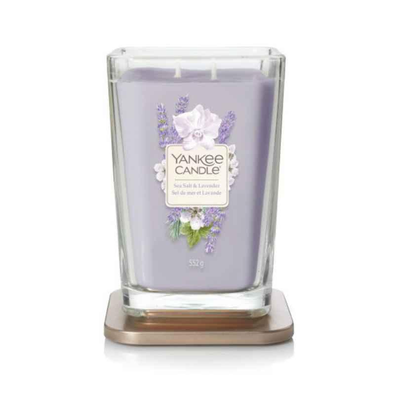 Yankee Candle Elevation Sea Salt & Lavender - duża świeca zapachowa - candlelove