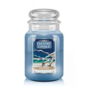 Country Candle Beachwood - duża świeca zapachowa - candlelove