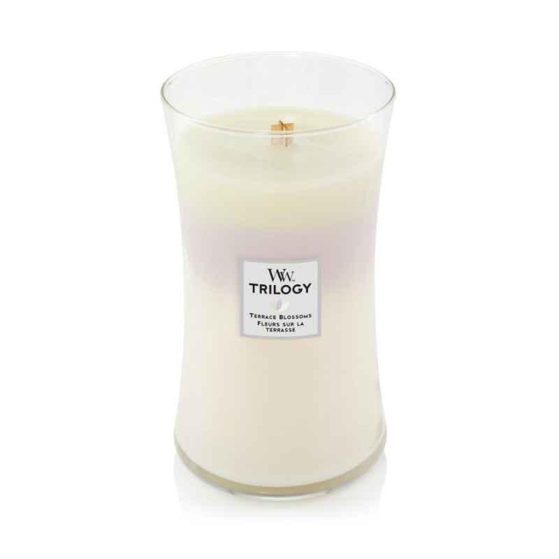 WoodWick Terrace Blossoms - duża świeca zapachowa - candlelove