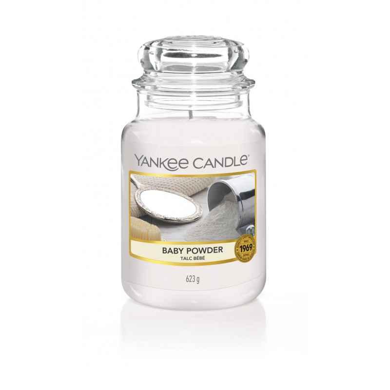 Yankee Candle Baby Powder - duża świeca zapachowa - candlelove
