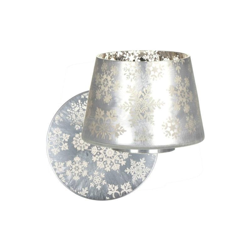 Yankee Candle Snowflake Frost - zestaw duży klosz + talerz - candlelove