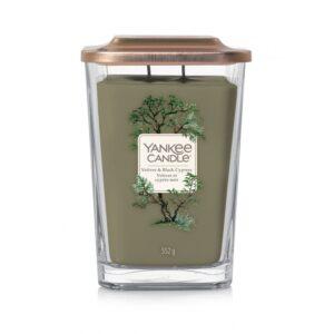 Yankee Candle Elevation Vetiver & Black Cypress - duża świeca zapachowa - candlelove
