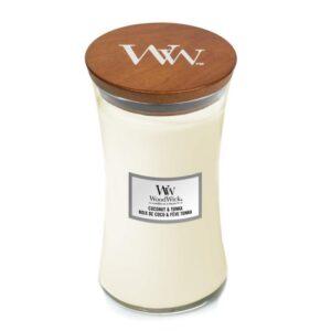 WoodWick Coconut & Tonka - duża świeca zapachowa - candlelove