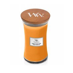WoodWick Caramel Toasted Sesame - duża świeca zapachowa - candlelove