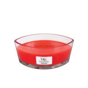 WoodWick Crimson Berries - świeca zapachowa Elipsa