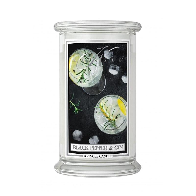 Kringle Candle Black Pepper Gin - duża świeca zapachowa - candlelove
