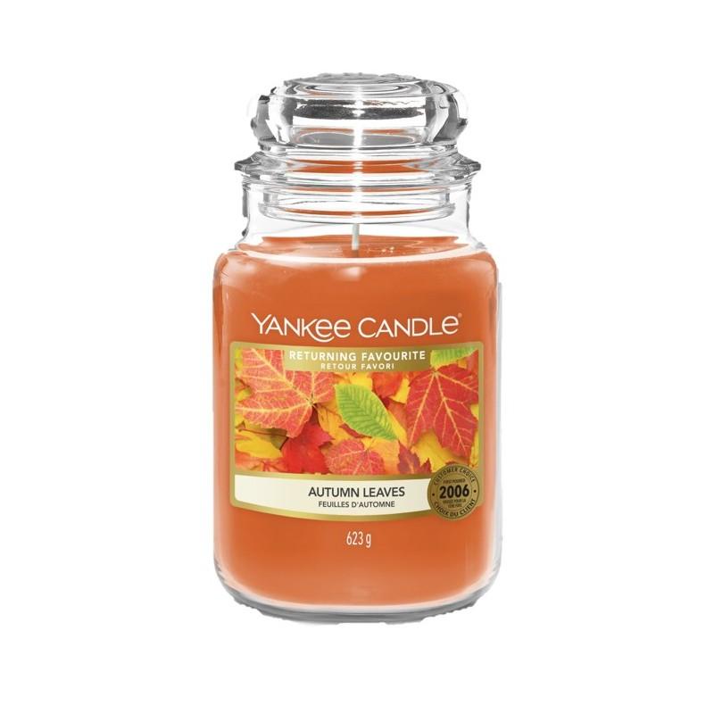 Yankee Candle Autumn Leaves - duża świeca zapachowa - candlelove