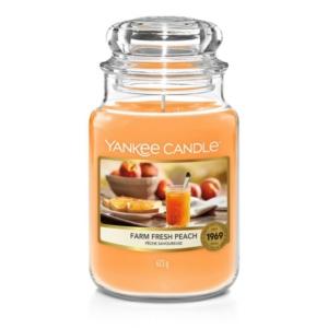 Yankee Candle Farm Fresh Peach - duża świeca zapachowa - candlelove