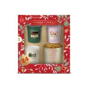 Yankee Candle Countdown to Christmas - zestaw 3 samplerów + świecznik - candlelove